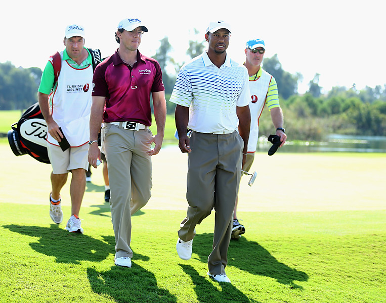 Woods and McIlroy faced off at the Turkish Airlines World Golf Final in early October, and Woods routed McIlroy 64-70 to eliminate him from the event. Woods went on to lose to Justin Rose in the event's championship match.
