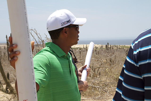 "Tiger during a visit to the El Cardonal site in 2012: ""I want to make it an enjoyable and memorable experience for all players, regardless of skill level."""