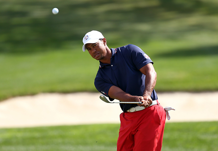 Tiger Woods was back on the course Wednesday for another practice session.