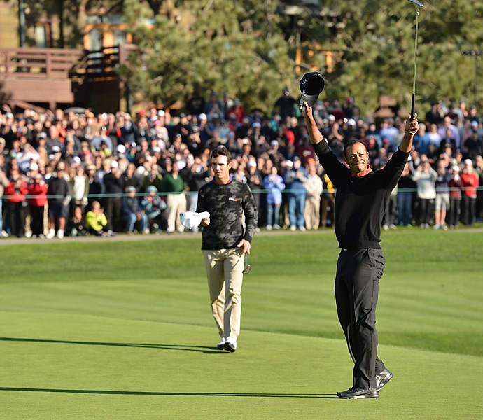 The win was Woods's 75th career PGA Tour title, second all-time behind Sam Snead.