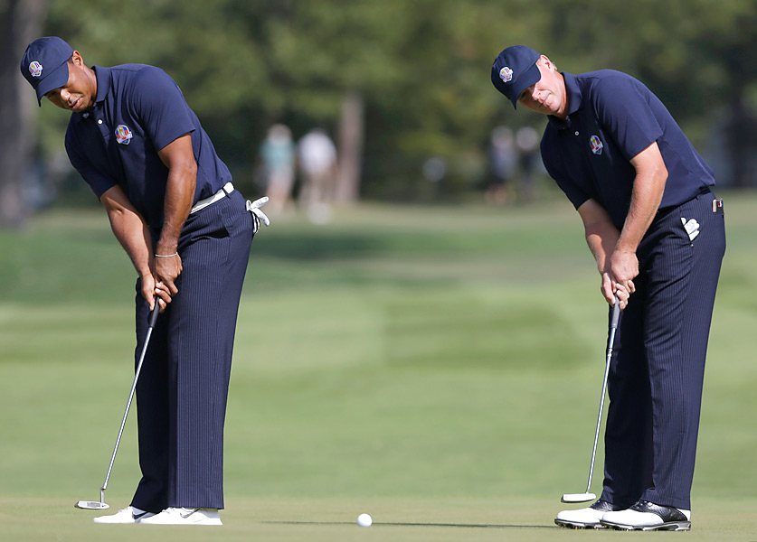 Tiger Woods and Steve Stricker are expected to play together in the team events this week.