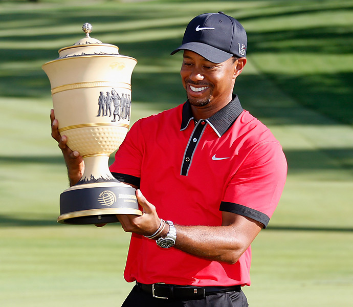 It was Woods' eighth career victory at Firestone, matching the record for wins at a single PGA Tour event.