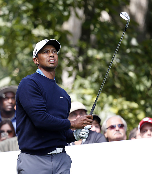 The penalty caused Woods to slide from five to seven shots behind the leaders.