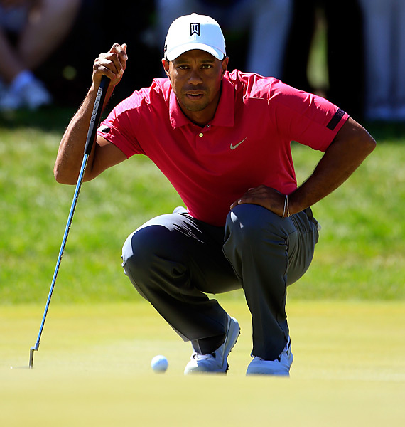 Woods will chase his sixth win of the season on Sunday.
