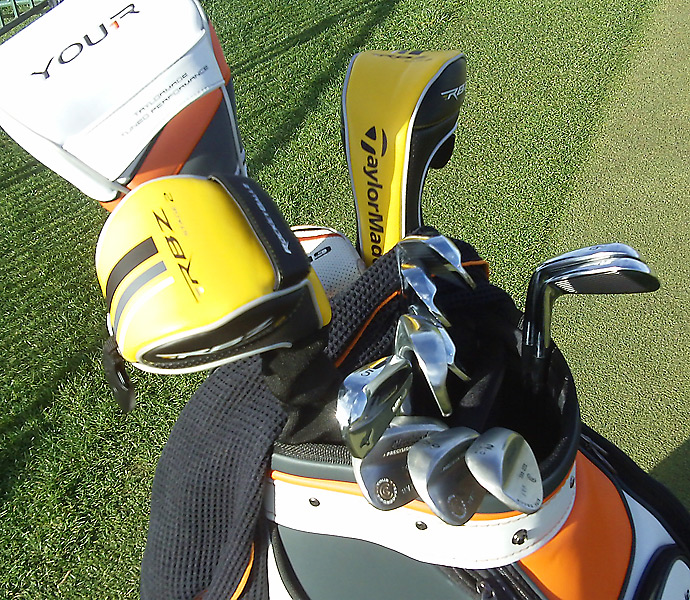 Bo Van Pelt has RocketBallz Stage 2 fairway woods and a TaylorMade R1 driver in his bag.