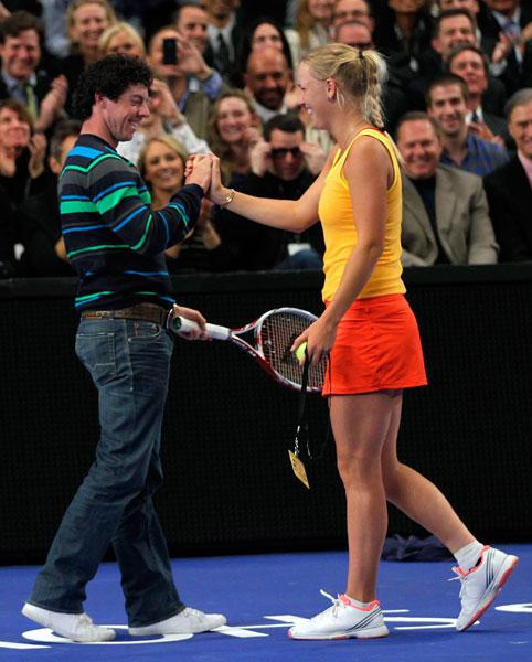 Rory McIlroy and Caroline Wozniacki                                          The golfer and tennis star began dating in 2011. They've traveled the world throughout their high-profile romance.
