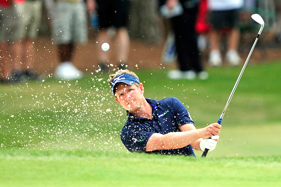 Luke Donald shot an even-par 71, but lost the No. 1 ranking to Rory McIlroy because he finished outside the top eight.