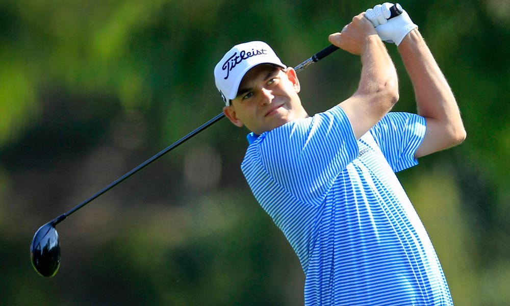 Bill Haas grabbed the solo lead for the first time on the 10th hole, after Mickelson made a bogey on the ninth.