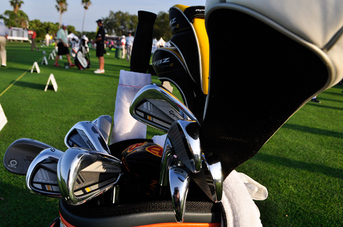 John Huh, the 2012 PGA Tour Rookie of the Year, totes TaylorMade woods, TaylorMade RocketBladez Tour irons plus the Titleist Vokey Design SM4 wedge.