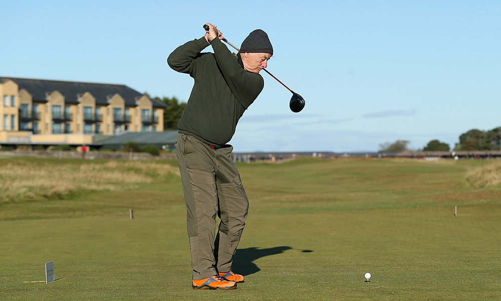 Bill Murray tried his luck at St. Andrews on Saturday. He also missed the cut and did not advance to Sunday's final round.