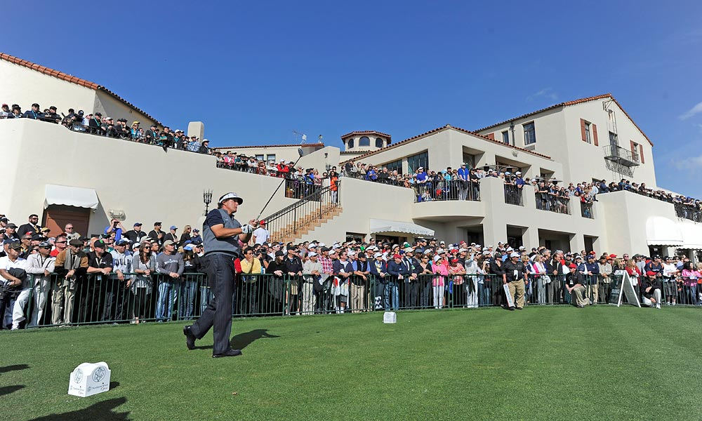 Mickelson began the day tied for the lead with Keegan Bradley.