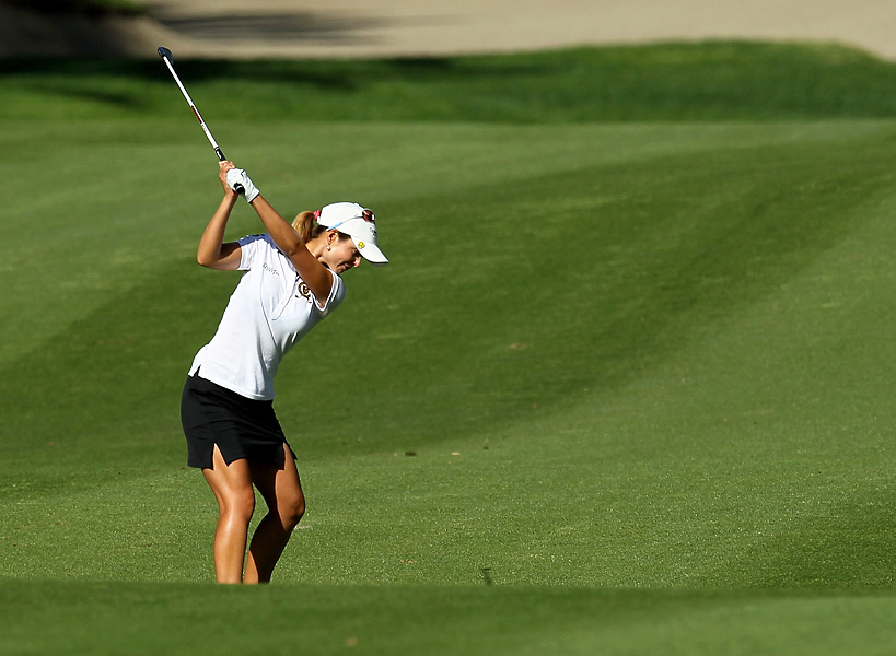 Beatriz Recari played her last five holes in three over par and finished with an even par 72.