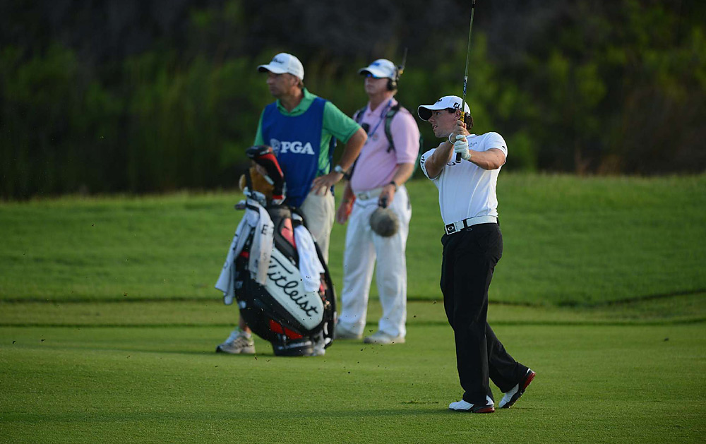 McIlroy shot a five-under 67 in the third round.