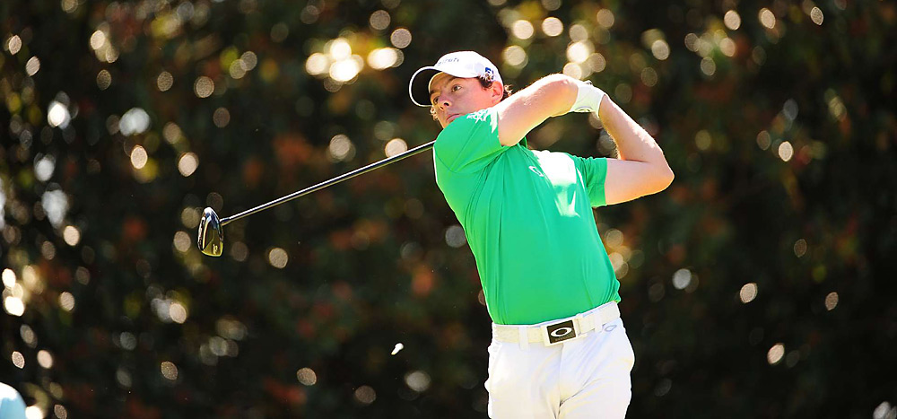 Rory McIlroy made two bogeys and one double in his first eight holes.