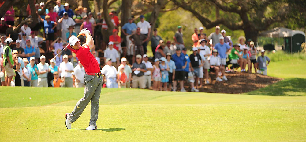 McIlroy made three birdies in his first seven holes to extend his lead.