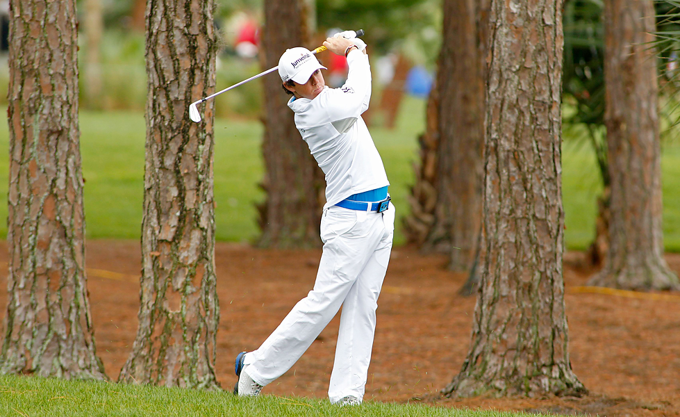 Rory McIlroy began the day with a two-shot lead.