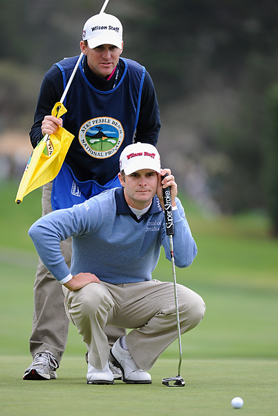 Kevin Streelman was in contention for most of the day before finishing bogey-bogey-double bogey.