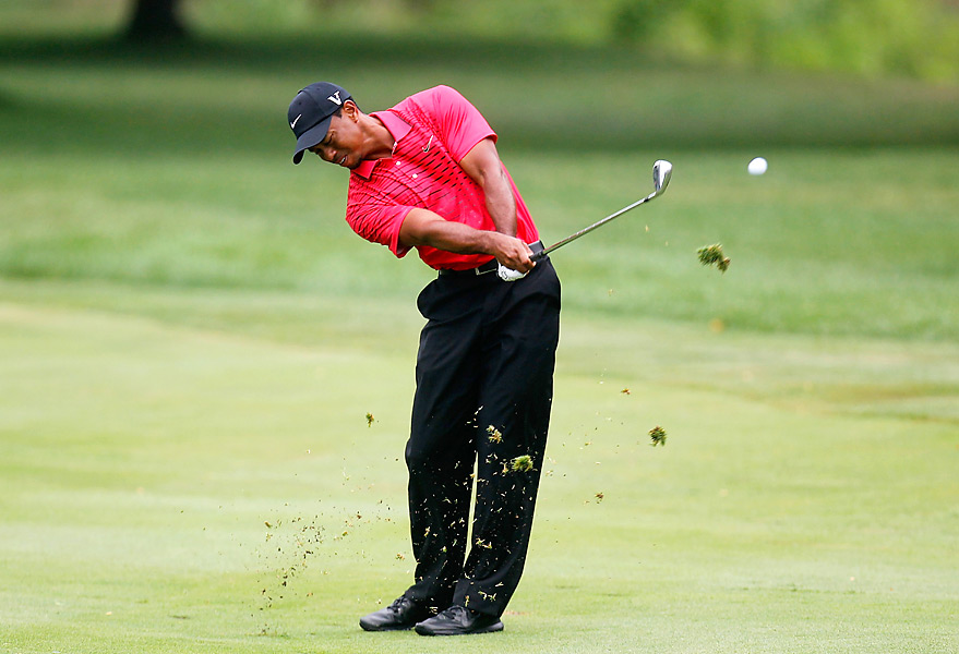 Tiger Woods shot a 66 on Sunday. It was his lowest round of the week.