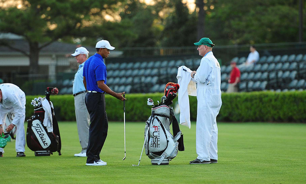 Woods is playing his first Masters with caddie Joe LaCava, the longtime caddie for '92 Masters champ Fred Couples.