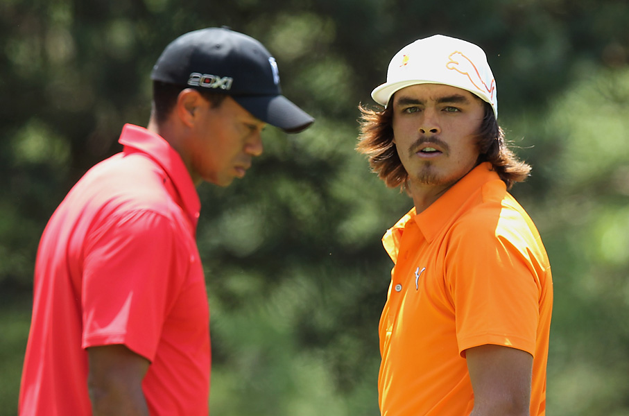 Woods was paired with Rickie Fower in the day's penultimate group.