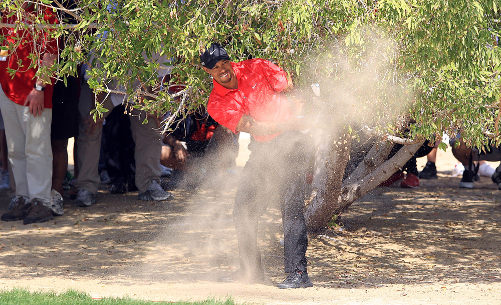 Tiger Woods entered the final round tied for the lead, but shot a 72 to finish tied for third.