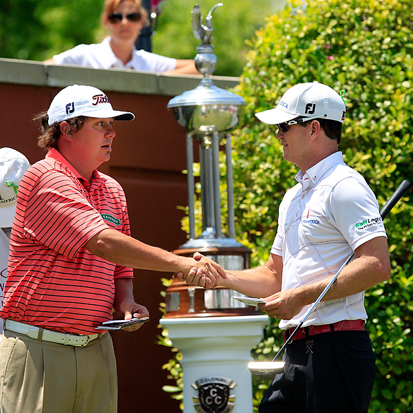 After separating themselves by seven shots through three rounds, Johnson and Dufner played in what was essentially match-play the entire day.