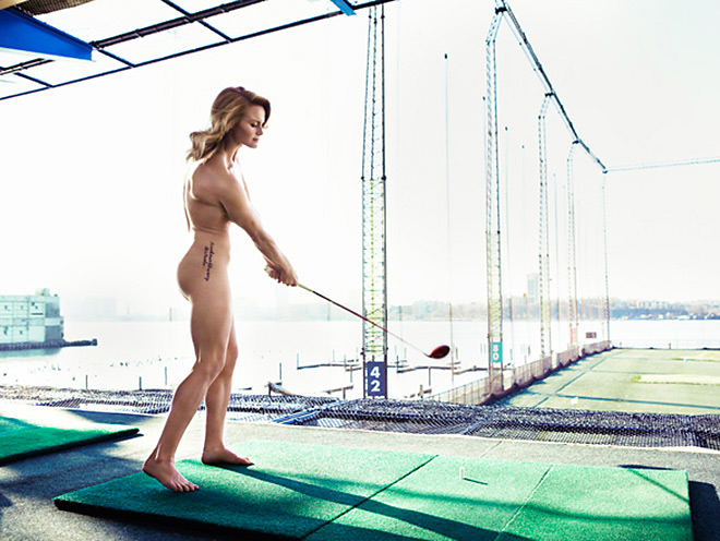 "21-year-old Carly Booth, a Scottish golfer on the Ladies European Tour, also appeared in the 2013 ""Body Issue."""