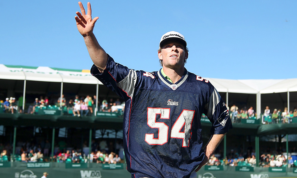 Crowds flocked to the Phoenix Open in record numbers this year, including more than 173,000 fans in attendance on Saturday. As always, the par-3 16th hole was the top gathering place for golf fans and party-goers alike. Here, James Driscoll donned a New England Patriots jersey in the third round.