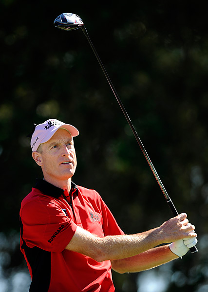 Jim Furyk entered the final round at Sea Island tied for the lead. He could have forced a playoff with a birdie on the final hole, but instead made a bogey to finish two shots behind Gainey.