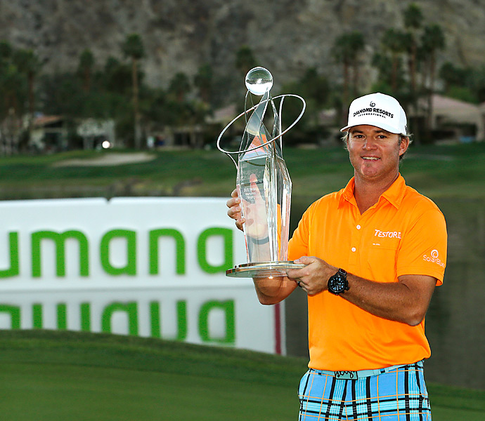 Brian Gay shot a 63, then prevailed in a three-way playoff to win the Humana Challenge.
