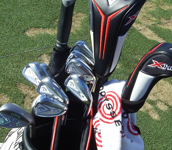 Branden Grace prefers the newer Callaway X Forged irons.