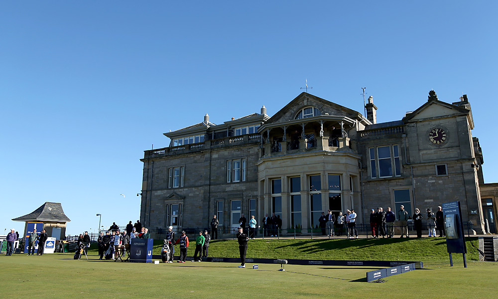 Braden Grace (teeing off on No. 1) shot a 70 on Sunday at St. Andrews to earn his fourth victory of the season at the Dunhill Links. Here are more photos of the main event, and the celebrites, at the event.