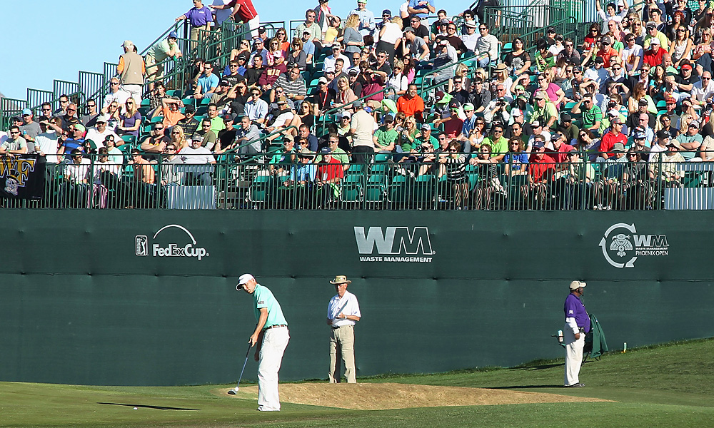 A packed house watched Bill Haas putt on Saturday.