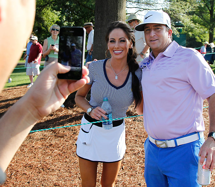 Sonders poses with a fan at the 2012 Wells Fargo Invitational pro-am.