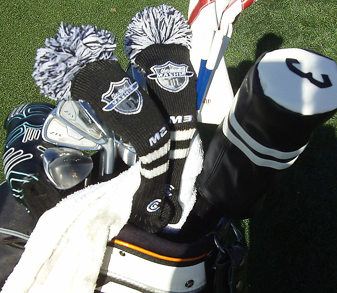 Graeme McDowell has Cleveland Mashie hybrids and Srixon Z-TX irons at the Match Play.