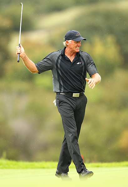 Greg Norman                       Another one of those fit Aussies, Norman says he still wears the same waist size pants today that he did in his prime.