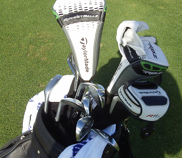 Richard Sterne still has the TaylorMade RocketBallz driver in his bag.