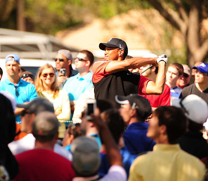 No one got closer than two shots to Woods's lead during the final round.