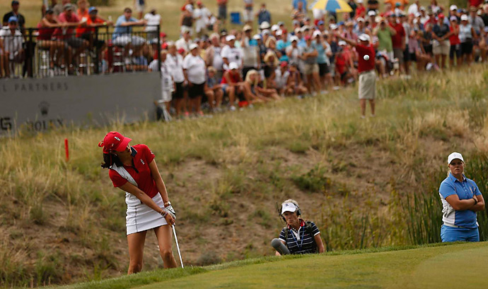 Michelle Wie lost to Caroline Hedwall in the match that clinched the Cup for Europe. Wie finished the week 2-2, while Hedwall became the first player to go 5-0 in the event's history.