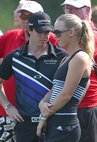 Rory McIlroy was joined in Turkey by his girlfriend, tennis pro Caroline Wozniacki