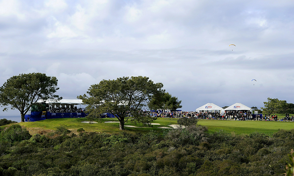 Here the paragliders fly over the 16th hole during the 2011 Farmers. Continue viewing the gallery for scenic Torrey photos from Sports Illustrated's Robert Beck.