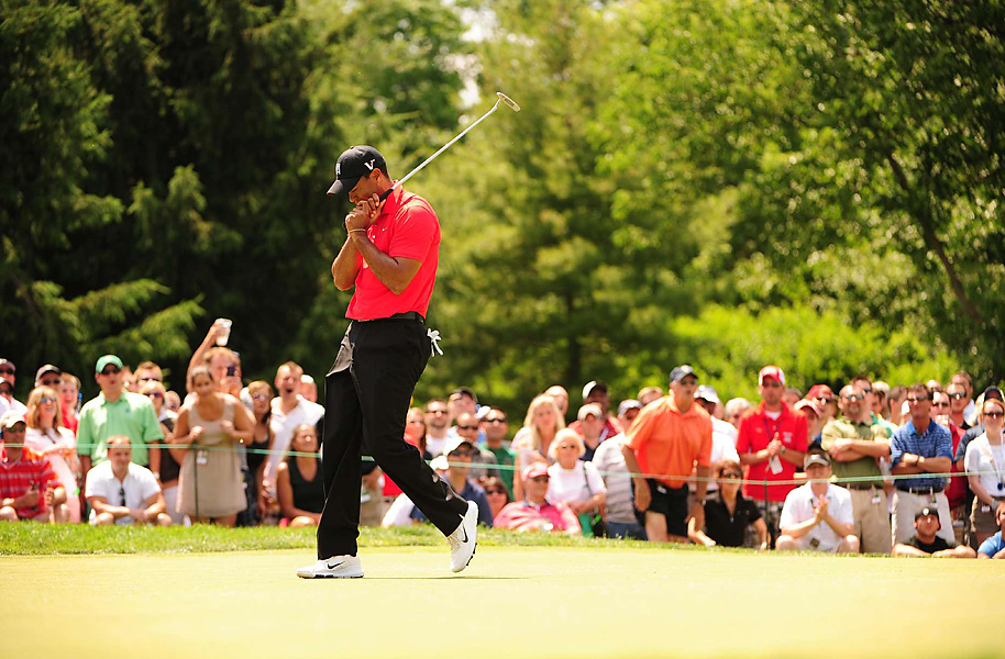 Woods burned the edge on several putts, but still rang up seven birdies against two bogeys for the day.