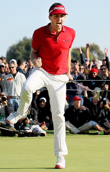 Bradley buried a 12-footer on the final hole -- moments after Mickelson made his own lengthy birdie putt -- to qualify for the playoff.