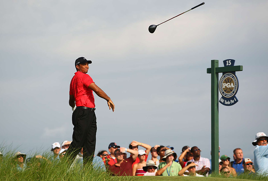 It was another disappointing weekend at a major for Tiger Woods, who tossed his club after an errant drive on the 15th tee in the third round, which his completed on Sunday morning.