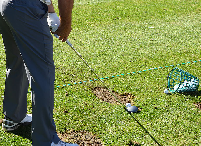 Your eyes aren't deceiving you. Woodland plays a steel shaft in his Callaway X Hot 3-wood.