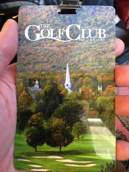 The poster child for gorgeous fall golf in the U.S. is the Equinox, in Manchester Village, Vermont.