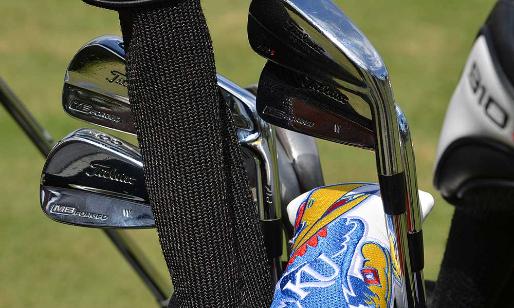 Gary Woodland, who uses Titleist MB 712 irons, will be glued to the TV on Sunday to see where his Kansas Jayhawks will be playing in the NCAA Tournament.