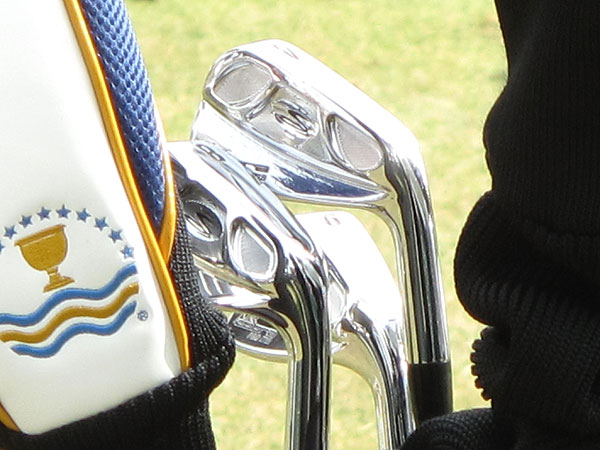 uses Cobra Pro MB Forged irons (3-PW). However, his 2-iron is a cavity-backed Cobra Pro CB.