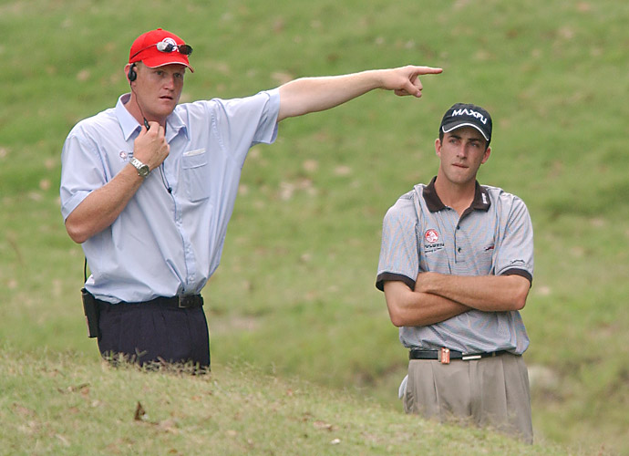 "THE VERDICT: Under Rule 4-3b, if during a round a player continues to use a club that has been damaged (other than in the normal course of play) enough to render it nonconforming or to change its playing characteristics, he's DQ'd. ""I think I bent the club early in the round after a poor tee shot,"" Ogilvy admits. ""I may have put it back in the bag a little more firmly than usual."""