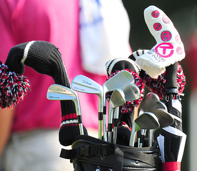 2006 Open champion Geoff Ogilvy is swinging Titleist MB irons at Merion.